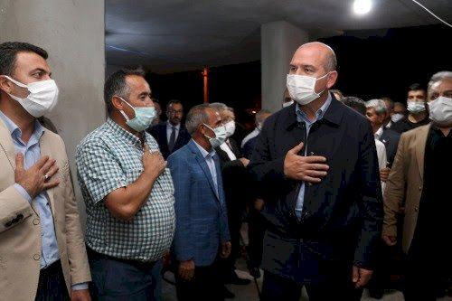 Soylu'dan zırhlı aracın çarparak öldürdüğü Mihraç Miroğlu'nun ailesine taziye ziyareti